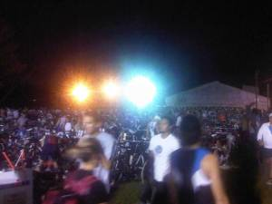 Transistion area the morning of Augusta 70.3 Half Ironman 2011