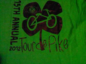 Tour de pike 2012 t-shirt
