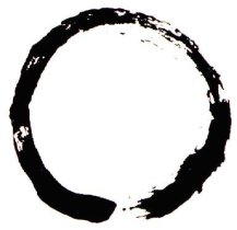 Zen calligraphic depiction of Mu