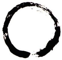 Zen calligraphic depiction of Mu