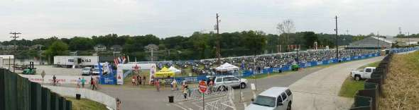 panoramic shot of Ironman Augusta 70.3 2012 pre-race