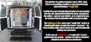 Police transport van rough ride